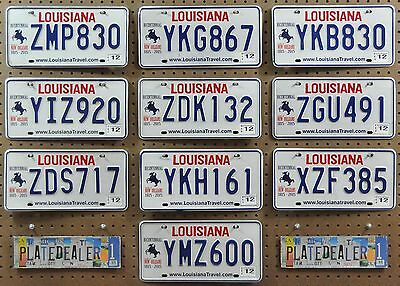 10 LOUISIANA New Orleans Bicentennial License Plates Tags Man Cave Signs LOT 830