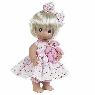 The Doll Maker Bear-Foot Blessings Baby Doll, Blonde, 12""