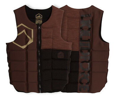 2017 Liquid Force Flex Watersports Wakeboard Impact Vest, S - XL, Tan. 51100