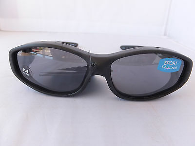 Solar Shield Sport Polarized Sunglasses Fits Over Glasses, Size Medium Free Ship