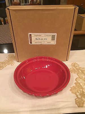 Longaberger Woven Traditions Small Pie Plate - Tomato - New!
