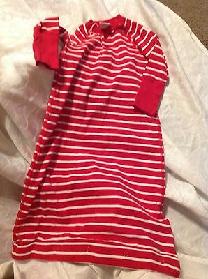 NWOT Infant 2-6 months 100% Cotton sleep sack sleeper Red & White boys girls FS