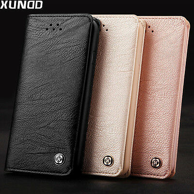 XUNDD Genuine Leather Wallet Full Cover Case Card Holder Fr iPhone X 8 7 6s Plus