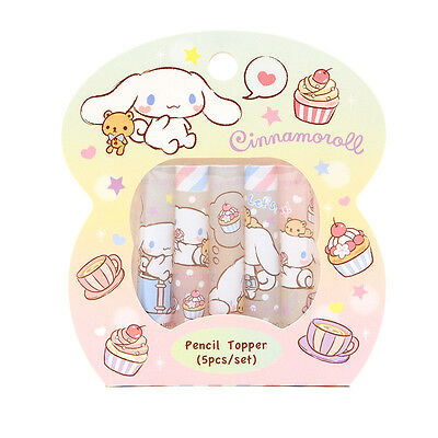 Sanrio Cinnamoroll Plastic Pencil Topper / Pencil Cap Set of 5pcs(9-5813-22 CN)
