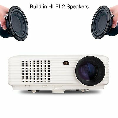 WiFi Home Theater Multi-Media 2800 Lumens 3D LED Home Projectors 1080P HDMI