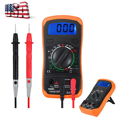 LCD Digital Multimeter AC DC Voltmeter Ammeter OHM Circuit Checker Tester Buzzer