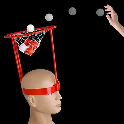 Headband Hoop Ball Game Basket Balls Fun Toy Head Strap with 20 Balls New