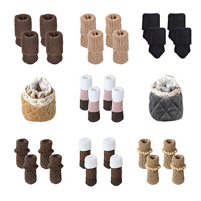 8x/16x Furniture Table Chair Desk Foot Leg Knit Socks Cover Pads Floor Protector