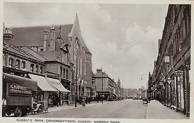 Queen's Park Congregational Church, Harrow Road, West London, old pc, unposted