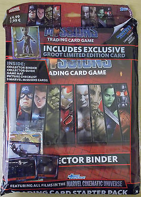 Marvel Missions ~ Topps Trading Card Starter Pack ~ Inc Binder & Limited Edition