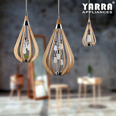 Variety Light bonito Contemporary Timber Pendant Chandelier Interior Lighting