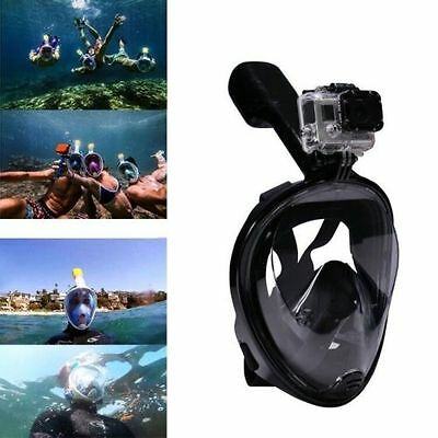 Swimming Diving Breath Full Face Mask Surface Snorkel Scuba for Go Pro S/M/L/XL