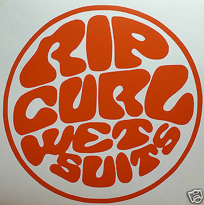 LARGE ROUND RIP CURL STICKER/DECAL Surfing/Watersports/Boating/Wakeboarding