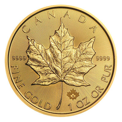 1 oz Gold Maple Leaf 2017 - 50 Dollar Kanada Goldmünze 999,9 Stempelglanz