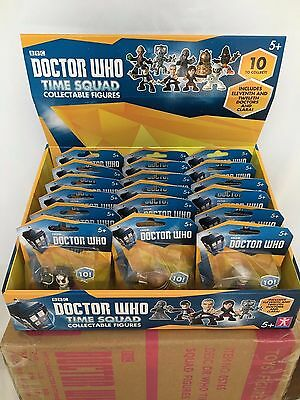 Wholesale 18 Doctor Who Time Squad Full Set + Spares In Display Box Party Bags