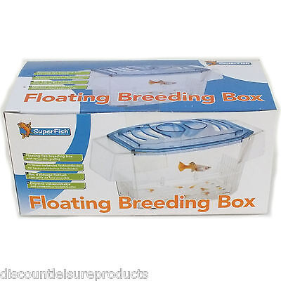 Superfish Aquarium Fish Tank Floating Breeding Box Fry hatchery Breeder