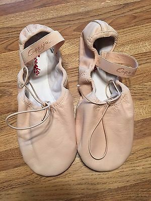 NEW Capezio Balera Pink Full Sole Leather Ballet Shoes  Size 7.5 N
