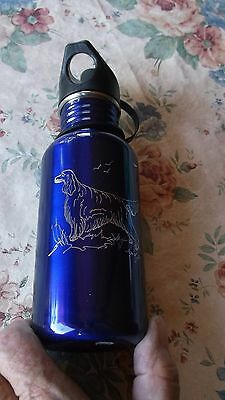 Gordon Setter-  Eye catching, Hand Engraved stainless Water Bottle by Ingrid