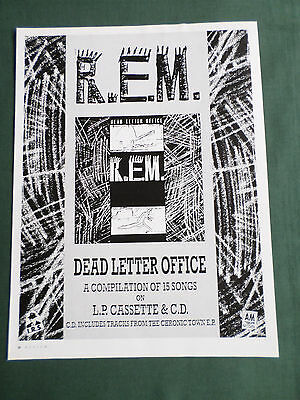 R.e.m - Magazine Clipping / Cutting- 1 Page Advert
