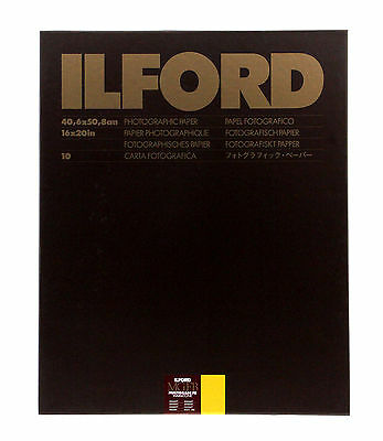 Ilford Multigrade FB Warmtone Fiber Base Paper (16 x 20in, 10 Sheets, Semi-Matt