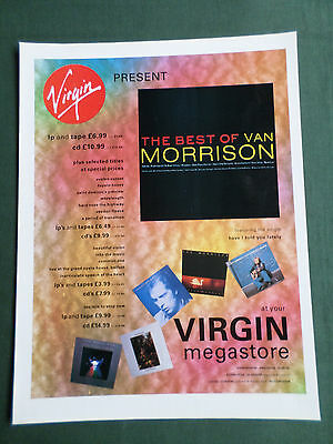 Van Morrison - Magazine Clipping / Cutting - 1 Page Advert