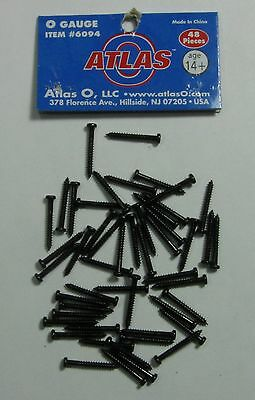 ATLAS 6094 O Gauge Track Screws (48 Pieces)