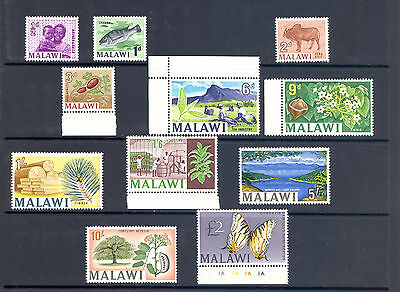 "Malawi Sg 252-67 ""chicken Head "" Watermark Mnh"