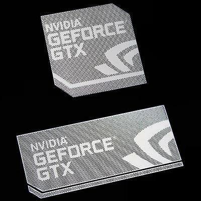 NVIDIA GEFORCE GTX Case Badge Polished Metal/Chrome Sticker 2 sizes USA seller