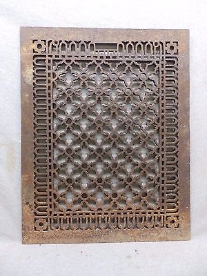 Antique Cold Air Return Heat Grate Gothic Pattern Vent Old Vintage 20x25 322-17R