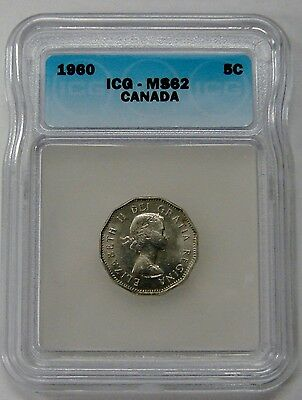 Canada - 1960 - 5 Cents - ICG MS 62