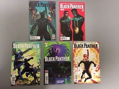 Lot of 5: Black Panther #1 - 5 // 1st and 2nd prints  // Marvel  2016 // Fine *