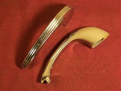 Vintage Chrome Cabinet Door Handles Drawer Pulls 40s 50s 60s Streamlined Modern