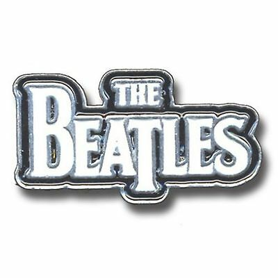 The Beatles Large Drop T Logo White new Official Metal Pin badge One Size