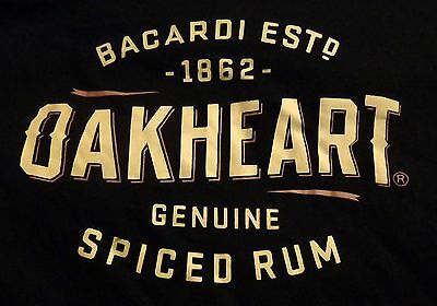 Bacardi Oakheart T Shirt..Black...Men's XXL...NEW