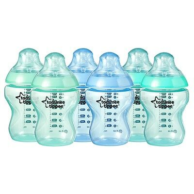 Tommee Tippee Colour My World Bottles 260ml - 6 Pack Blue