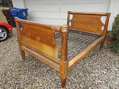 Antique 1820's Solid Maple w/ Birdseye Maple Rope Bed Nice Condition Antique Bed