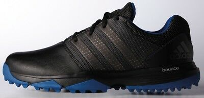 Adidas 360 Traxion Golf Shoes Black/dark Silver/collegiate Royal Wide New 2017