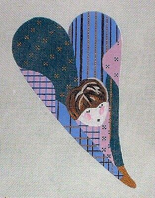 """KW 1344 """"Betty Butt"""" by TS Designs HP Hand Painted Needlepoint Canvas"""
