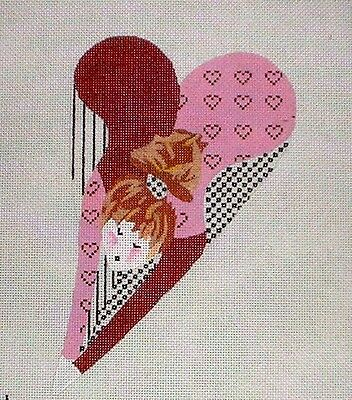 """KW 1345 """"Bertha Butt"""" by TS Designs HP Hand Painted Needlepoint Canvas"""