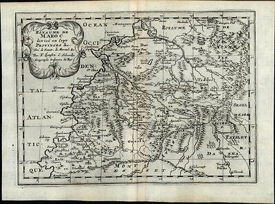 Morocco Fez Tangier North Africa Marmol Algeria 1669 Sanson old antique map