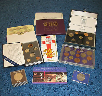 United Kingdom and Commonwealth: Big Lot of Proof Sets and Other Coins