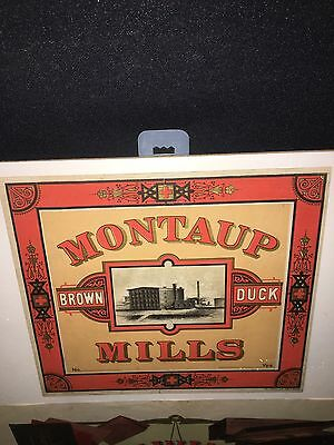 1920's Montaup Mill Brown Duck Sign Fall River Ma
