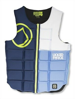 Liquid Force Flex Wakeboard Watersports Impact Vest S or M or XL, Blue. 51100