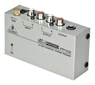 Behringer MICROPHONO PP400 Phono Preamp- convert phono signal to line level