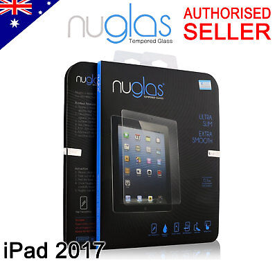 GENUINE NUGLAS Premium Tempered Glass Screen Protector For Apple New iPad 5 2017