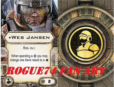 Wes Jansen Custom X-Wing Miniatures Fan Art Upgrade card: Crew