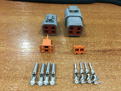 Deutsch DTP 4 Pin Connector Kit With EZ-Crimp Contacts 10-14 AWG
