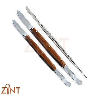 Dentist Lecron Carver Fahen Knife Small & Large Waxing Carving Modeling Spatulas
