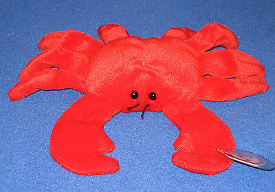 TY RED DIGGER the CRAB BEANIE BABY - MINT with MINT TAGS