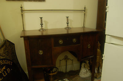 Antique Mahogany Bowfroned Sideboard Pos` Late Georgian